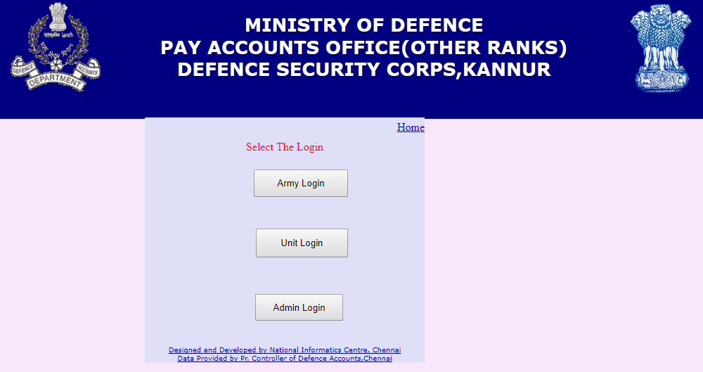 Pay Slips Online: Online Pay slip Indian Army